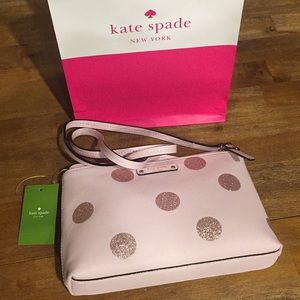 NEW KATE SPADE ♠️ RAMEY BAG Pink Haven Lane Dots